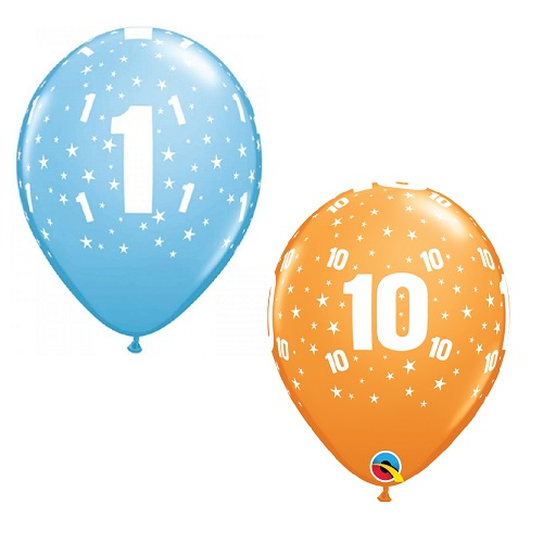 Children's Age 1-10 Latex Balloons