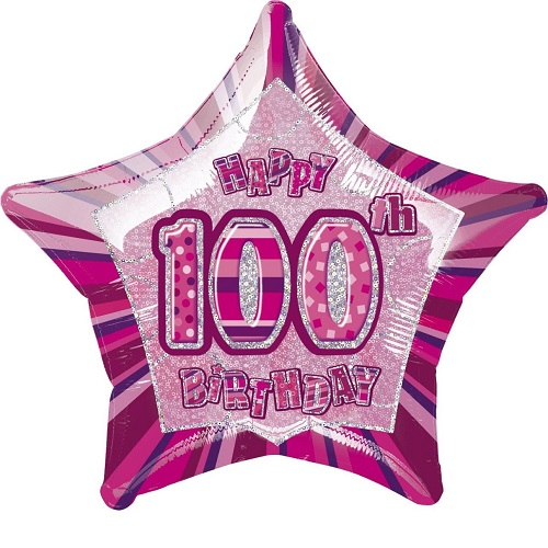 100th Birthday Foil Balloons
