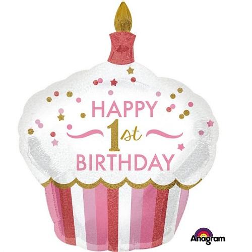 1st Birthday Foil Balloons