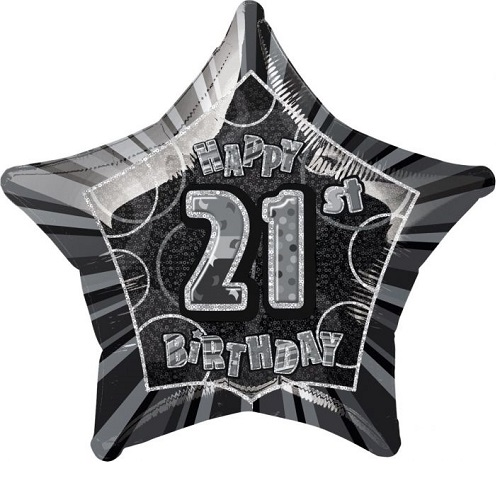 21st Birthday Foil Balloons