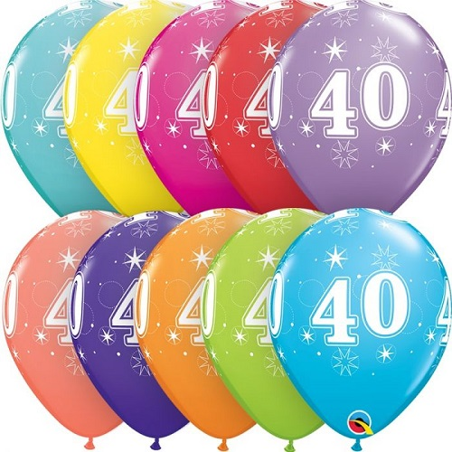Age 40 Latex Balloons