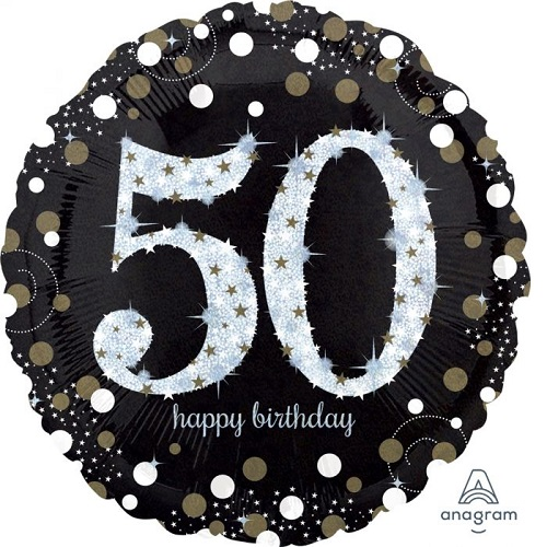 50th Birthday Foil Balloons