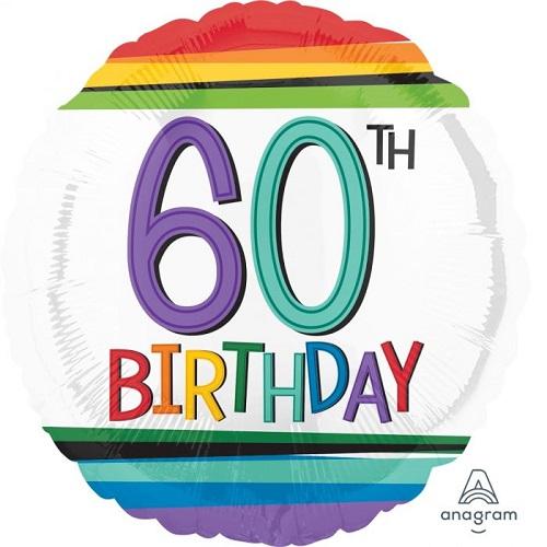 60th & 65th Birthday Foil Balloons