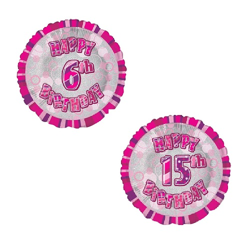 6th-15th Birthday Foil Balloons