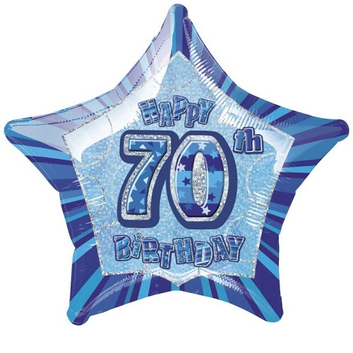 70th Birthday Foil Balloons