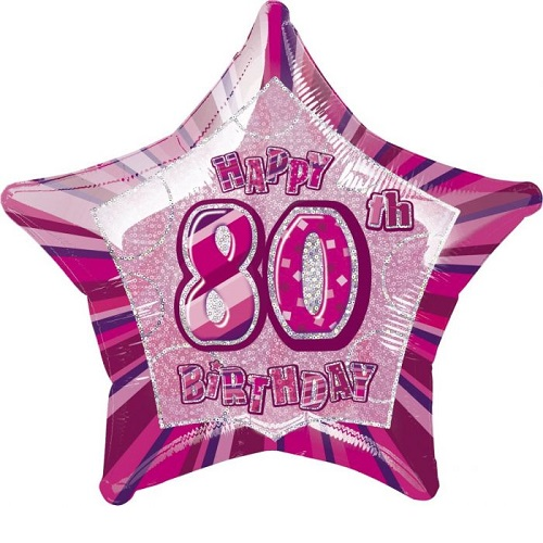 80th Birthday Foil Balloons