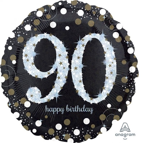 90th Birthday Foil Balloons