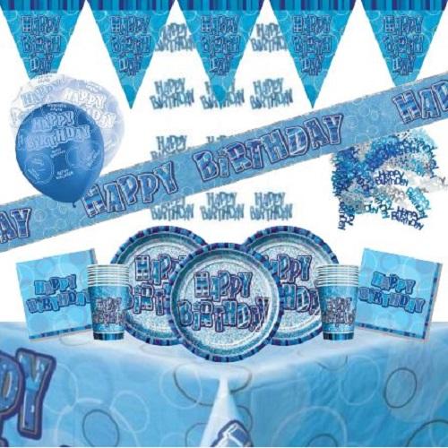 Blue Glitz Partyware