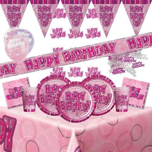 Pink Glitz Partyware